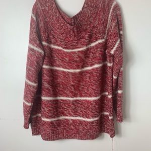 Red/white sweater perfect for holiday season 2X